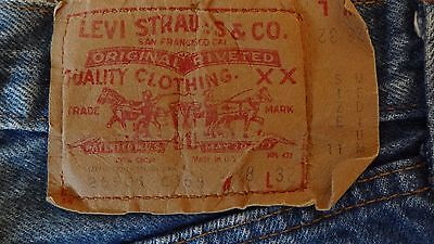 Vintage 80s Womens High Waisted LEVI Jeans Button Fly 28x32