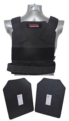 Tactical Scorpion Level IIIA Body Armor Plates + Bobcat 11x14 Concealable vest