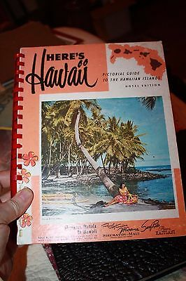 Hawaii Pictorial 1950's hotel Guide to the Islands