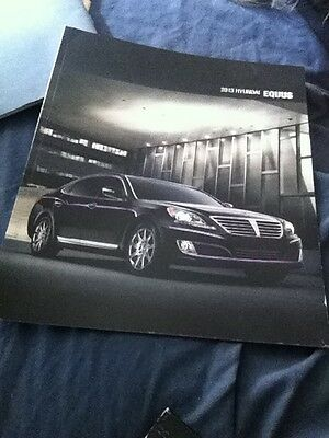 2013 Hyundai Equus Luxury Car Large Color Brochure Catalog Prospekt
