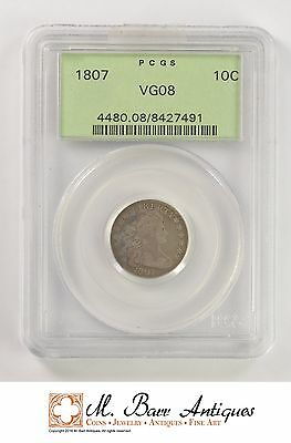 VG08 1807 Draped Bust Dime - PCGS Graded *YC188