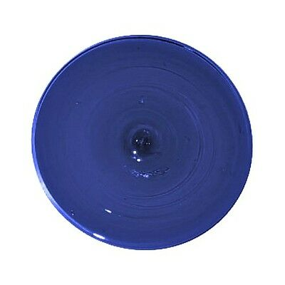 "Krosno Mouth Blown 4"" Cobalt Blue Glass Rondel Stained Glass Supplies"