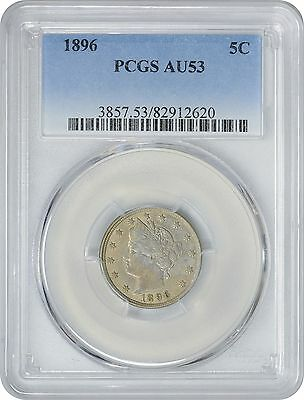 1896 Liberty Nickel AU53 PCGS