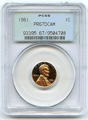 1961 Lincoln PROOF Cent Penny PCGS PR 67 DCAM - Green Label AK401