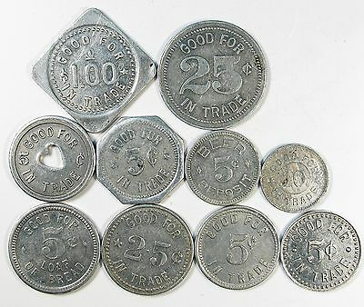"Lot of 26 Washington State ""Good for"" Tokens Different Cities Circulated #73276"