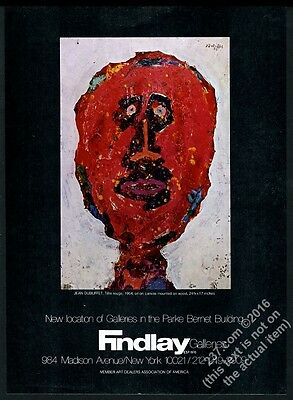 1973 Jean Dubuffet Tete Rouge painting NYC gallery vintage print ad