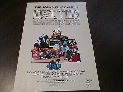 Led Zeppelin - The Song Remains The Same COLOR 1976 Magazine Print Ad