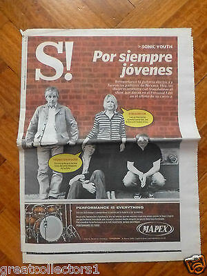 SONIC YOUTH + ADVERTISING OF Megadeth Newspaper Section ofArgentina