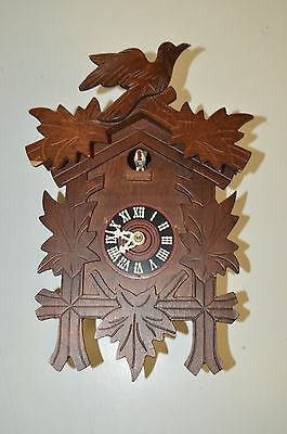 Nice Vintage Brown Wooden BIRD Top Germany Cookoo Clock Rare Repair Parts