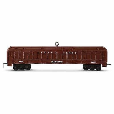2016 Hallmark Lionel 2627 Madison Passenger Car Ornament FAST FREE SHIP