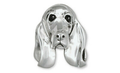 Basset Hound Brooch Pin Jewelry Sterling Silver Handmade Dog Brooch Pin DP8-BP