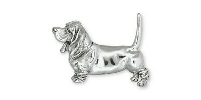 Basset Hound Brooch Pin Jewelry Sterling Silver Handmade Dog Brooch Pin DG3-PN
