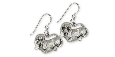 Basset Hound Earrings Jewelry Sterling Silver Handmade Dog Earrings BH2-E