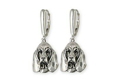 Basset Hound Earrings Handmade Sterling Silver Dog Jewelry BAS3-E