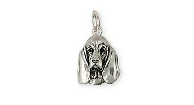 Basset Hound Charm Handmade Sterling Silver Dog Jewelry BAS3-C