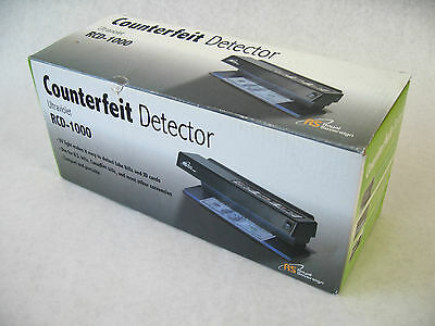 Royal Sovereign Counterfeit Currency Detector - RCD-1000 - Ultraviolet - NEW US