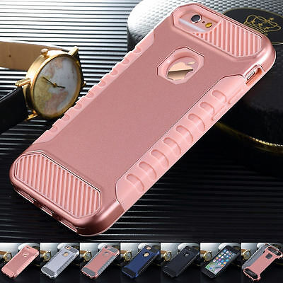 New Shockproof Hybrid Rugged Rubber Hard Cover Case For Apple iPhone 7 6 6s Plus