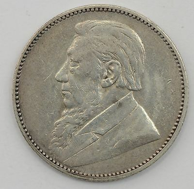 1896 South Africa Slver 1 Shilling - SHARP COIN *A85