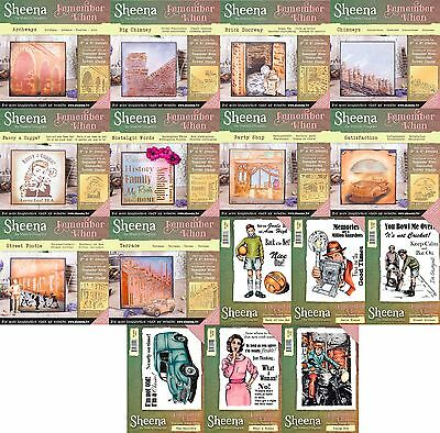 Sheena Douglass Remember When Collection - Choice of Stencils or Stamps