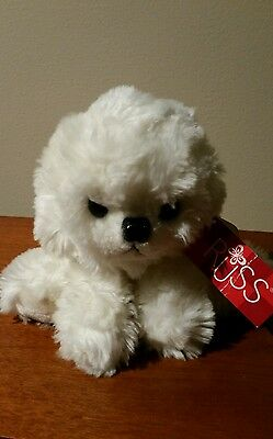 RUSS Softies MUFFIN Plush BICHON FRISE White Dog NWT stuffed animal