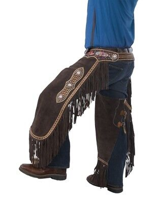 Tough-1 Western Apparel Mens Adjustable Naomi Chinks Brown 63-7935
