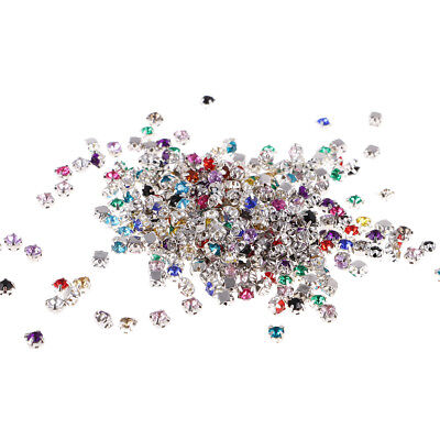 600 Acrylic Sew On Crystals Rhinestone Sewing Beads for Clothes/Bags/Shoes