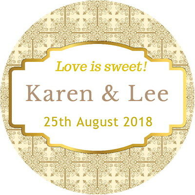 personalised wedding favour stickers 2 45 picclick uk