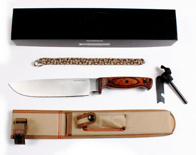 "Ontario Bushcraft 6526 Woodsman Knife 9-1/4"" Fixed Blade Plain Edge w/Sheath"