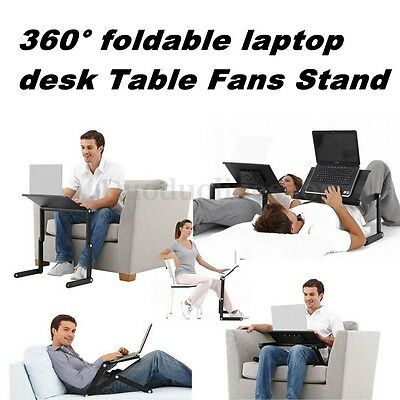 Adjustable Desk Folding Portable Laptop Computer Notebook Table Stand Bed Tray
