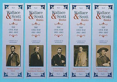 Bookmarks - Wallace & Scott - Set Of 25 - The American Civil War 1861 - 1865