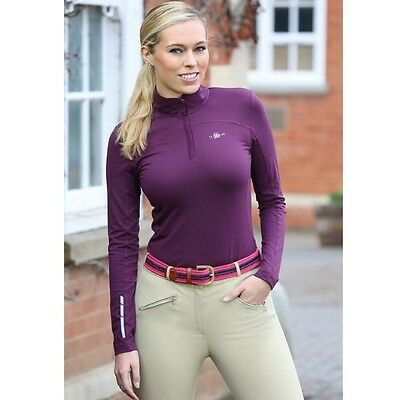 SHIRES BEIJING BASE LAYER top LADIES PLUM horse rider quick drying top 9930