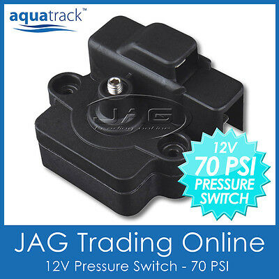 12V 70 PSI PRESSURE SWITCH FOR WATER DIAPHRAGM PUMP - Caravan/Boat/RV/Deckwash