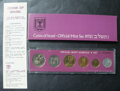 1972 Coins of Israel Official Mint Set  Brilliant Uncirculated