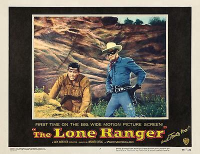 CLAYTON MOORE with TONTO * THE LONE RANGER * great c-u 11x14 * LC print * 1956