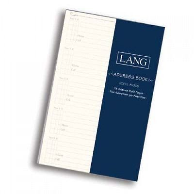 "Lang ADDRESS BOOK refill - package of 24 pages, 5""x 8"" - refills"