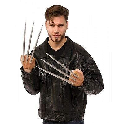Wolverine Claws Adult Superhero Costume Halloween Fancy Dress