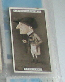 #25 Fred Lane horse racing - 1925 cigarette card