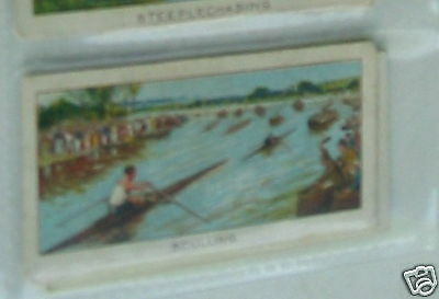 #25 sculling - Sport cigarette card
