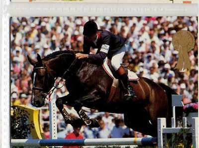 #252 eric navet FRA - jumping equestrian collector card