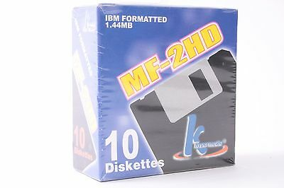 Hypermedia MF-2HD Floppy Disk IBM Formatted Diskettes - 10 Pack