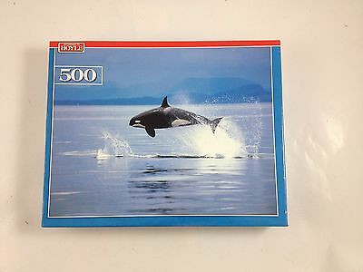 according to hoyle 500 piece jigsaw puzzle killer whale new