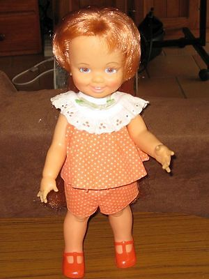 Vintage IDEAL BEAUTIFUL Crissy Doll Cinnamon in Original clothing and Shoes
