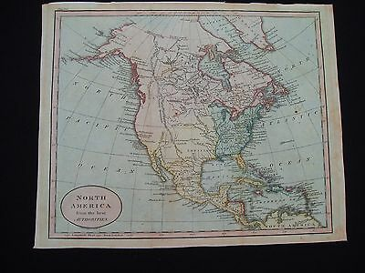 1807 Russell Map North America United States Canada  Rare 100% Antique