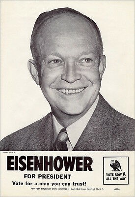 1952 Dwight Eisenhower MAN YOU CAN TRUST Vintage Campaign Poster (5240)