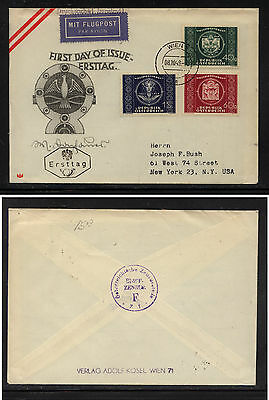 Austria  565-567  first  day  cachet  cover    KL0325