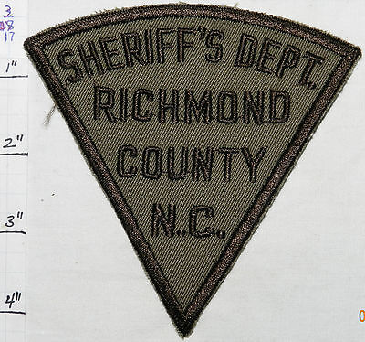North Carolina, Richmond County Sheriff's Dept Vintage Brown Patch