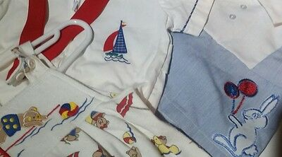 vintage baby boys Clothing Bunny Easter 0-3, 3 months sailor suit beach jumper