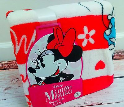 New MINNIE MOUSE Super Soft Travel Blanket 45 x 55 inches