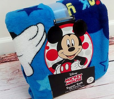 New MICKEY MOUSE Super Soft Travel Blanket 45 x 55 inches