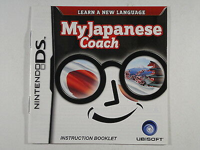 ¤ My Japanese Coach ¤ (MANUAL ONLY) GREAT Nintendo DS 3DS